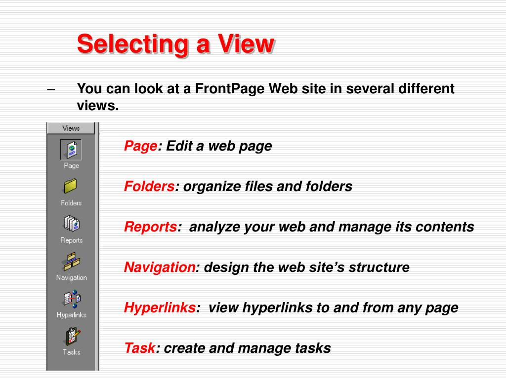 Selecting a View