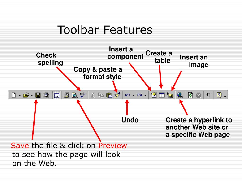 Toolbar Features