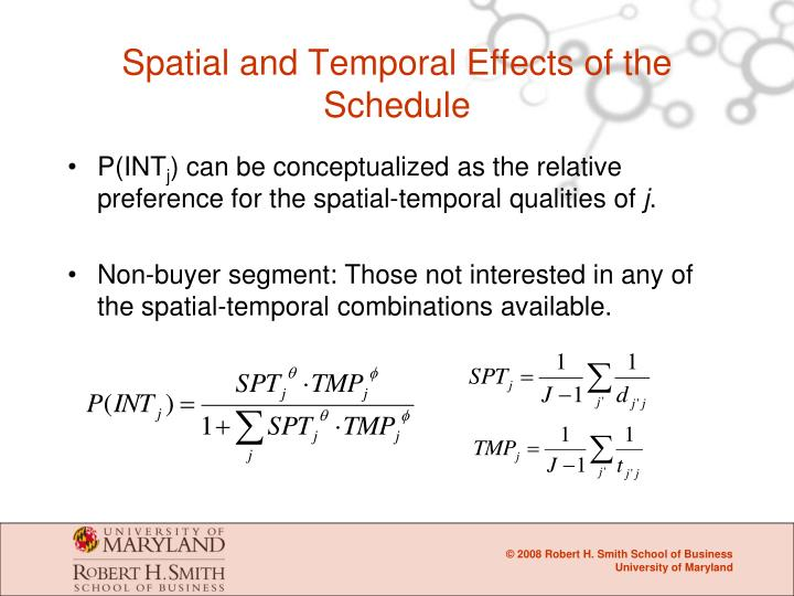 Spatial and Temporal Effects of the Schedule