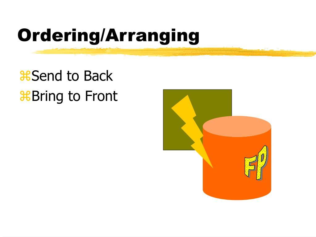 Ordering/Arranging