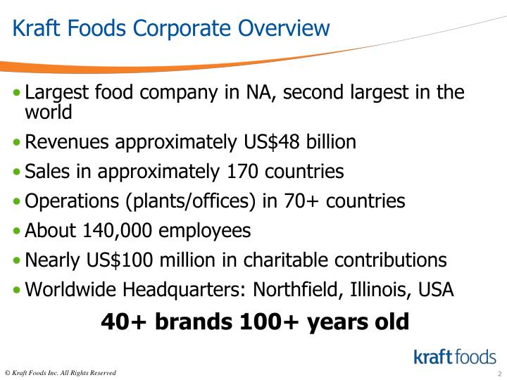 Kraft foods corporate overview