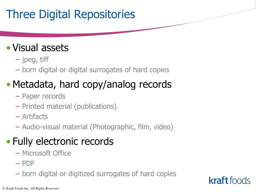 Three Digital Repositories