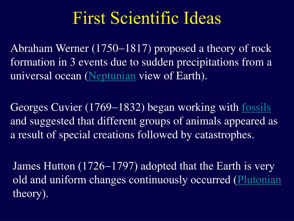 First Scientific Ideas