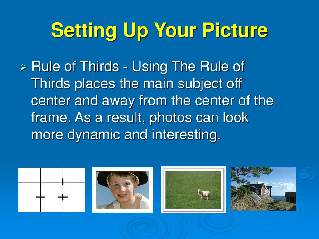 Setting Up Your Picture