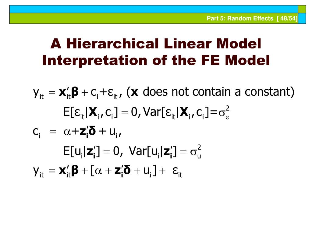 A Hierarchical Linear Model