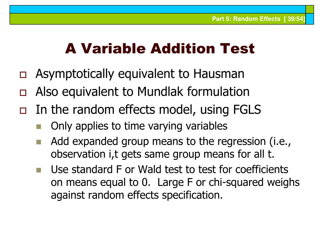 A Variable Addition Test