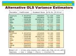 alternative ols variance estimators