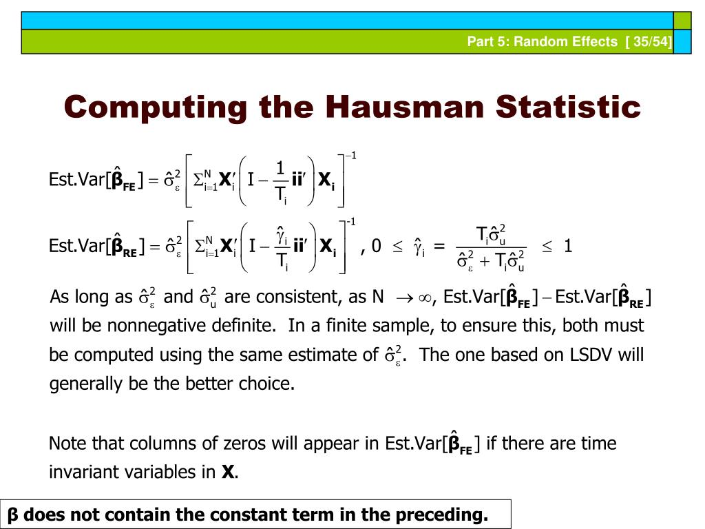 Computing the Hausman Statistic