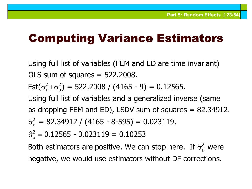 Computing Variance Estimators