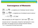 convergence of moments