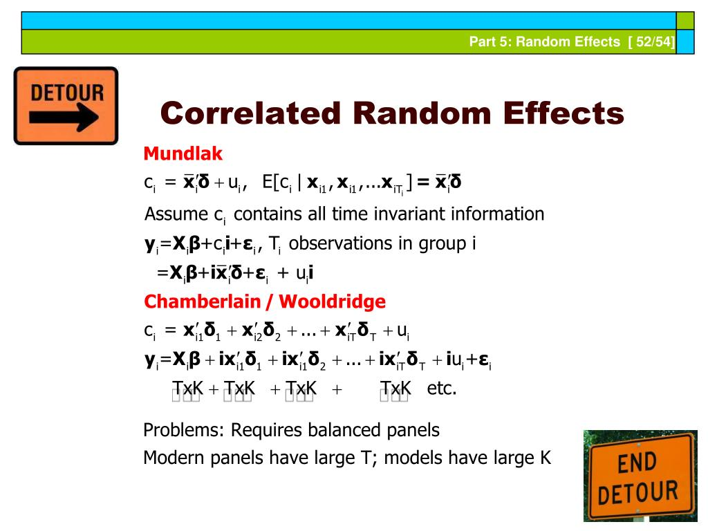 Correlated Random Effects