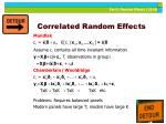 correlated random effects