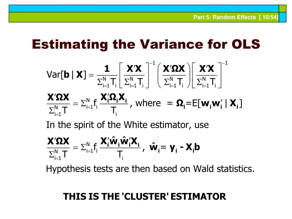 Estimating the Variance for OLS