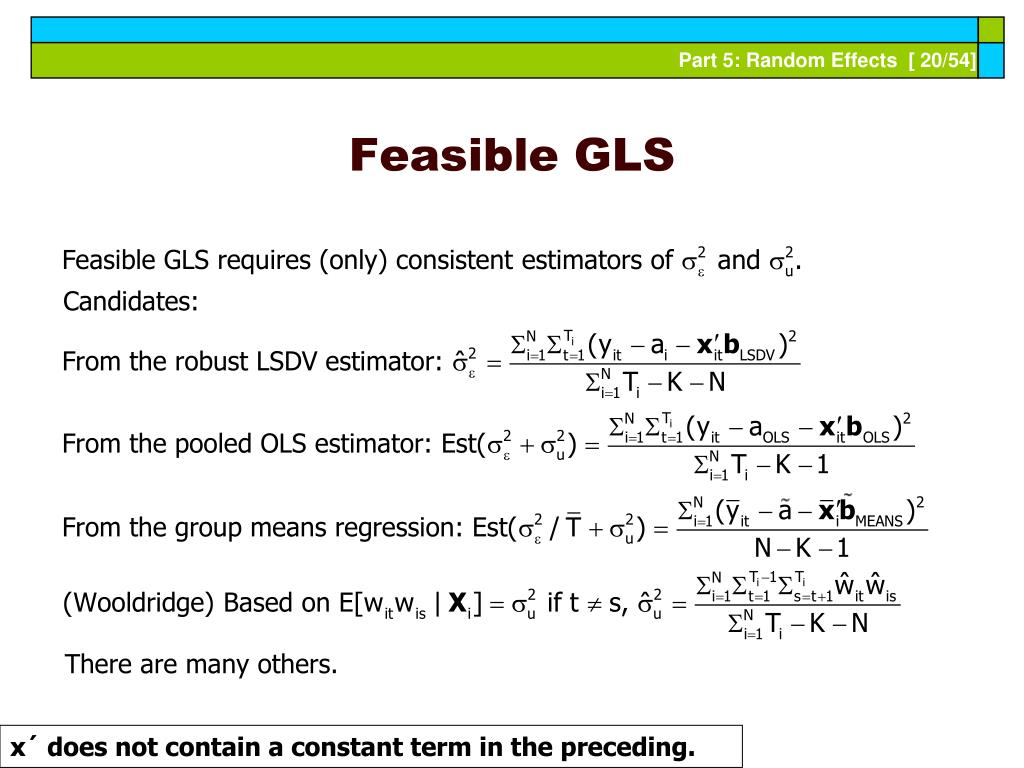 Feasible GLS