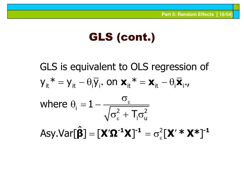 GLS (cont.)
