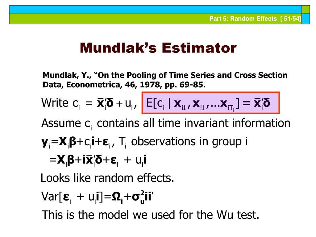 Mundlak's Estimator