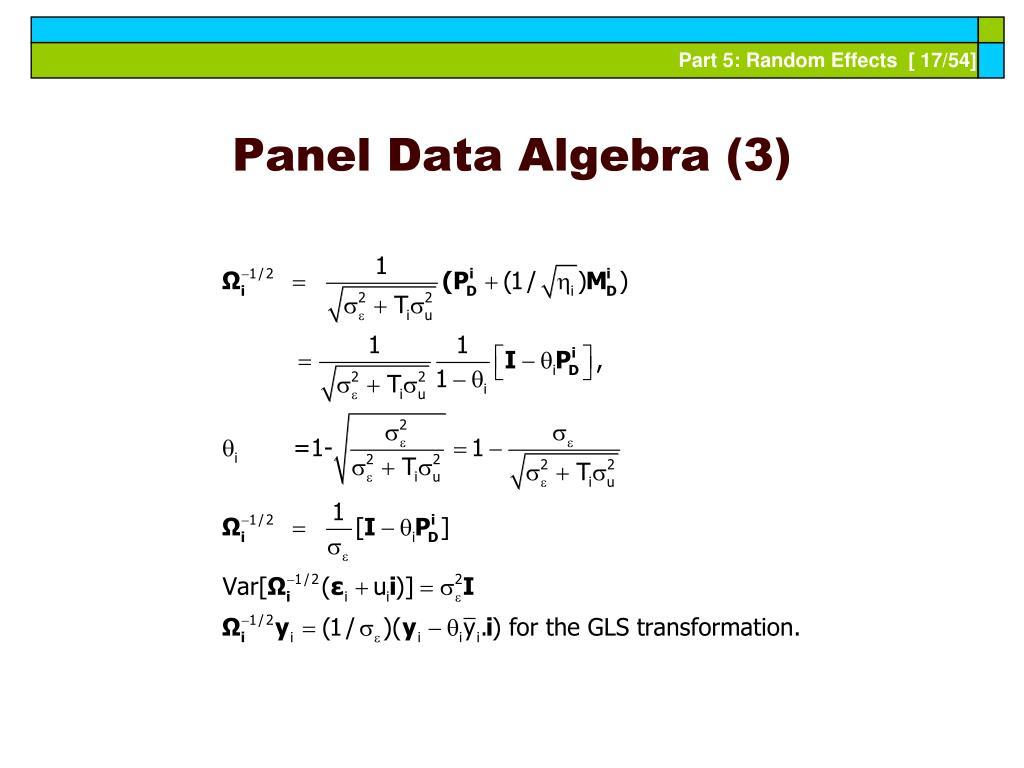 Panel Data Algebra (3)