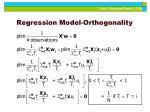 regression model orthogonality