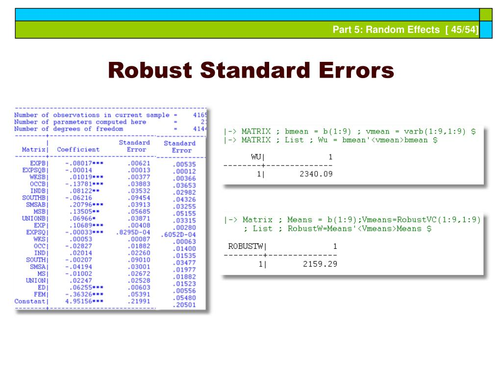 Robust Standard Errors