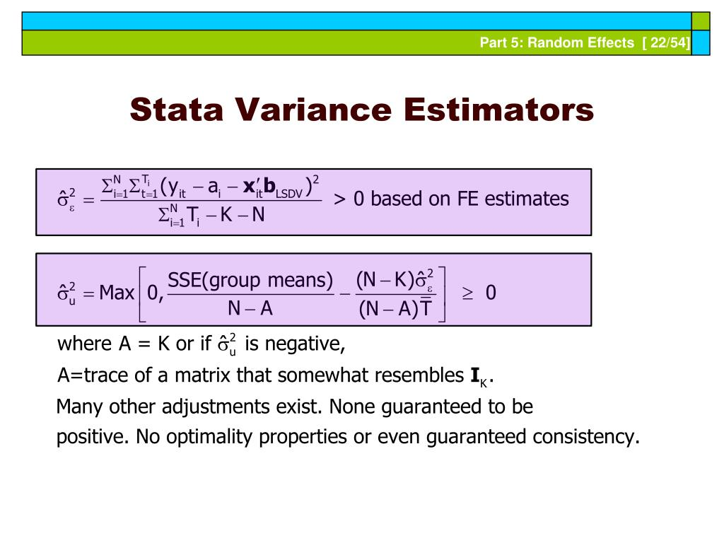 Stata Variance Estimators