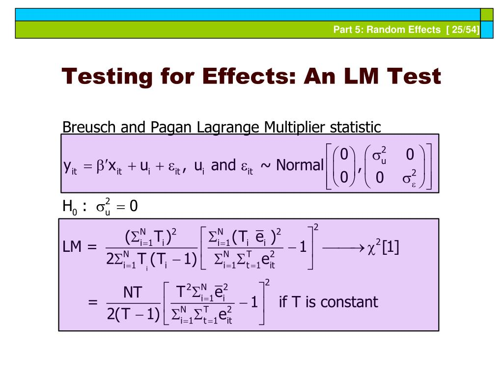Testing for Effects: An LM Test