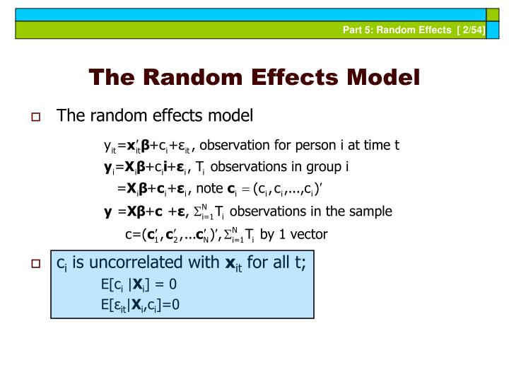 The random effects model