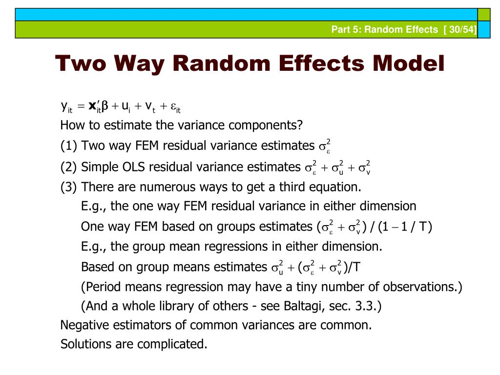 Two Way Random Effects Model