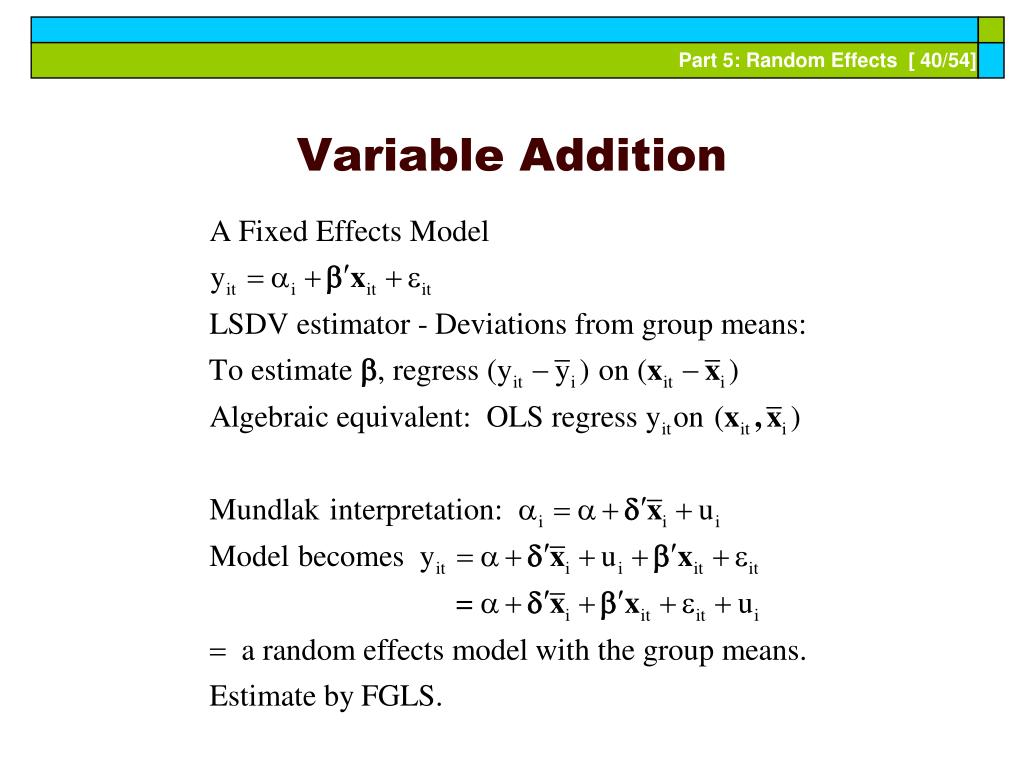 Variable Addition