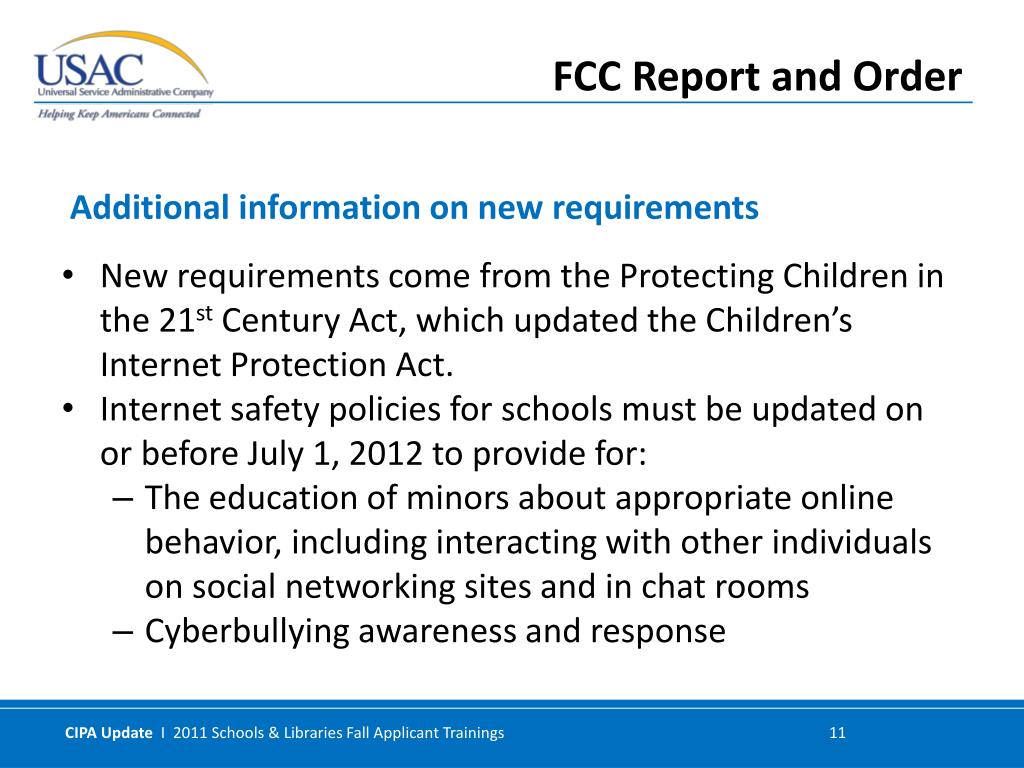 New requirements come from the Protecting Children in the 21
