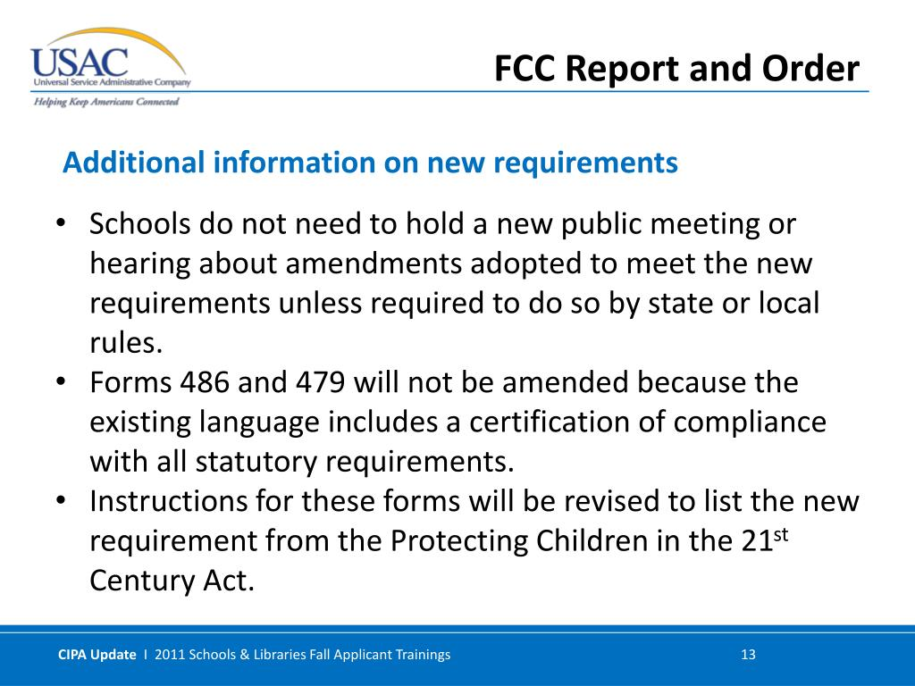 Schools do not need to hold a new public meeting or hearing about amendments adopted to meet the new requirements unless required to do so by state or local rules.