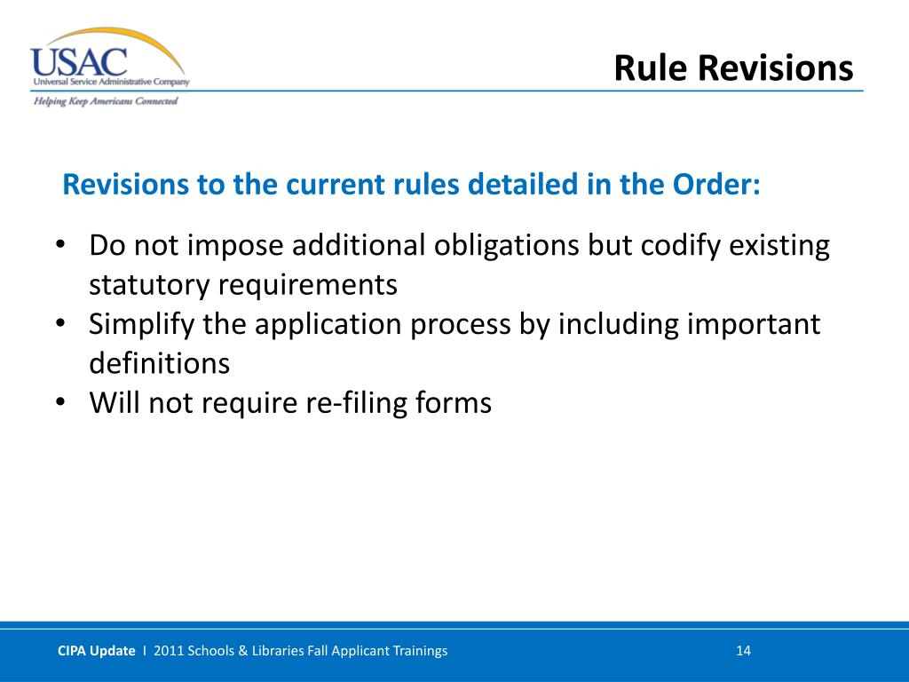 Do not impose additional obligations but codify existing statutory requirements
