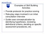 examples of skill building activities
