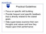 practical guidelines30