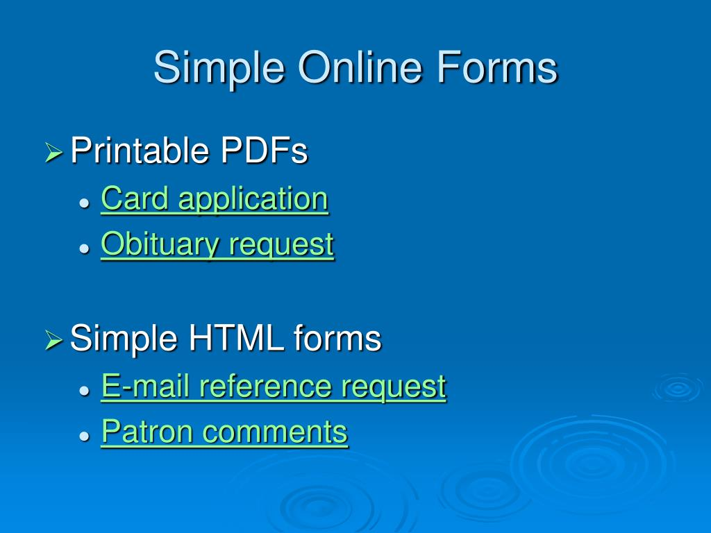 Simple Online Forms