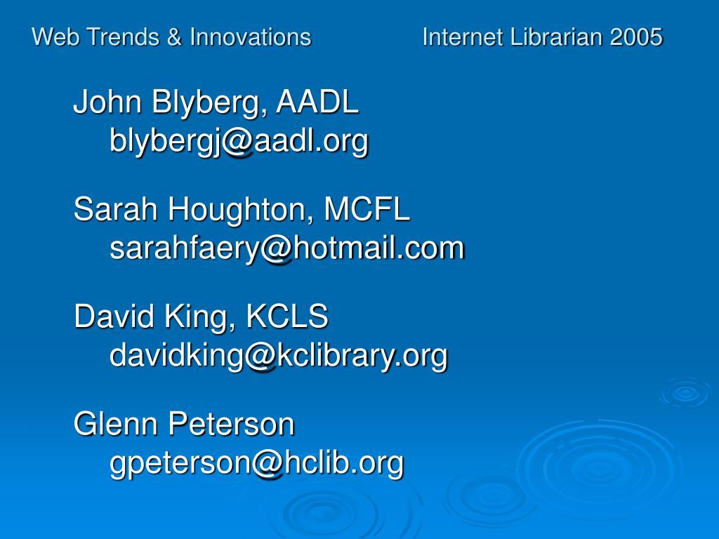 Web Trends & Innovations