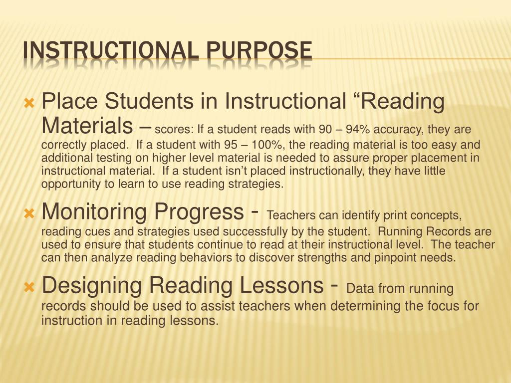 "Place Students in Instructional ""Reading Materials"