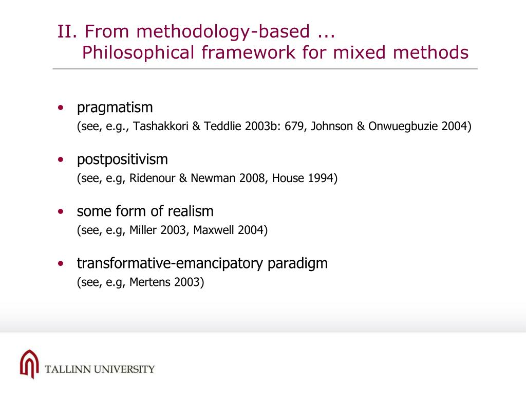 II. From methodology-based ...