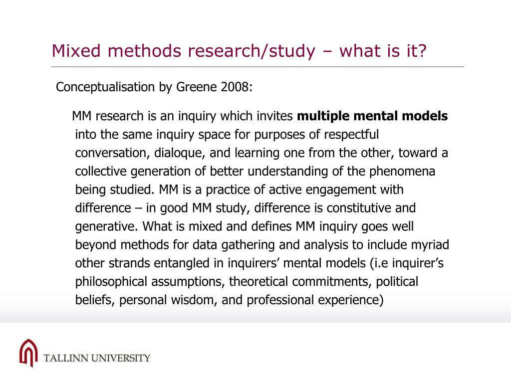 Mixed methods research/study – what is it?