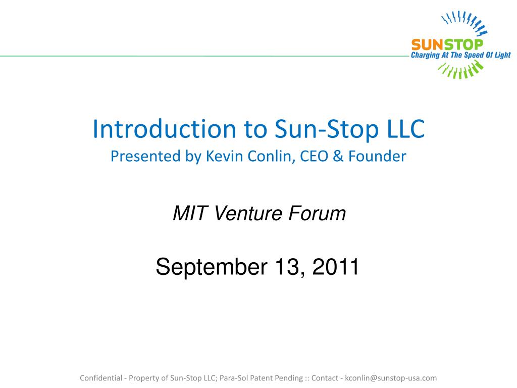 Introduction to Sun-Stop LLC