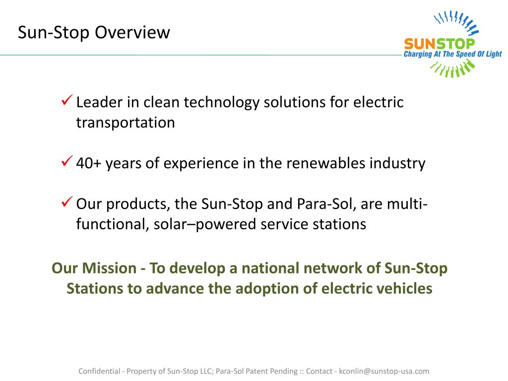 Sun-Stop Overview