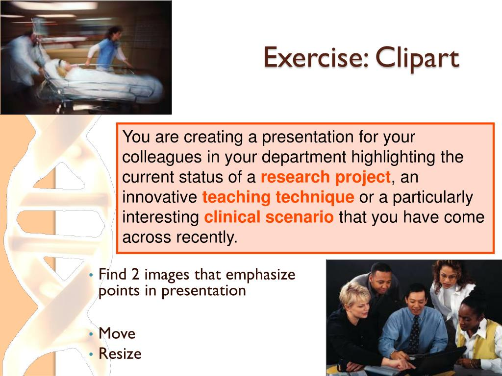 Exercise: Clipart