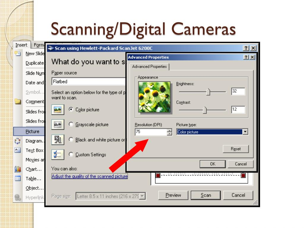 Scanning/Digital Cameras