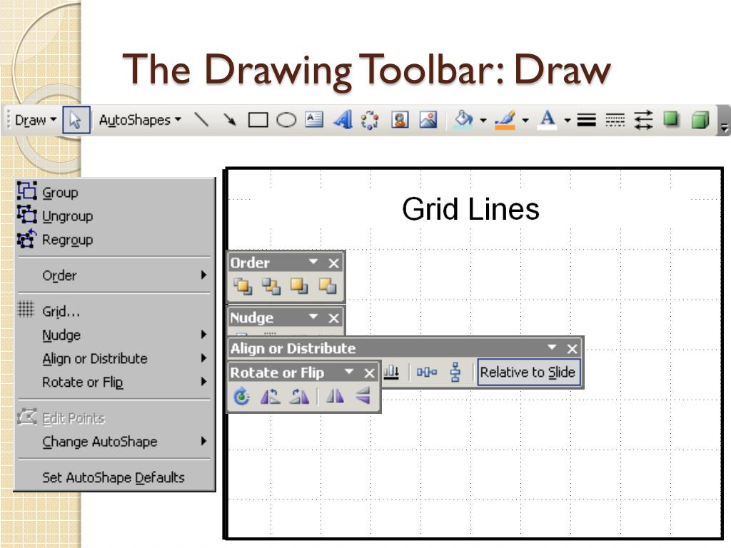 The Drawing Toolbar: Draw