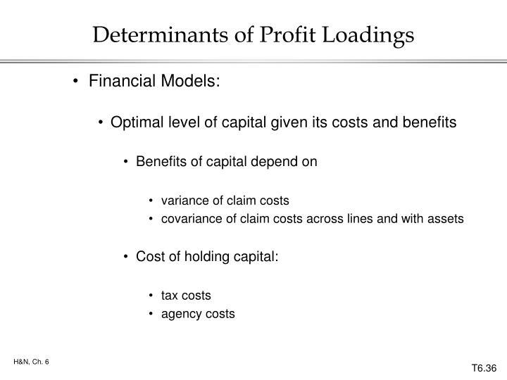 Determinants of Profit Loadings
