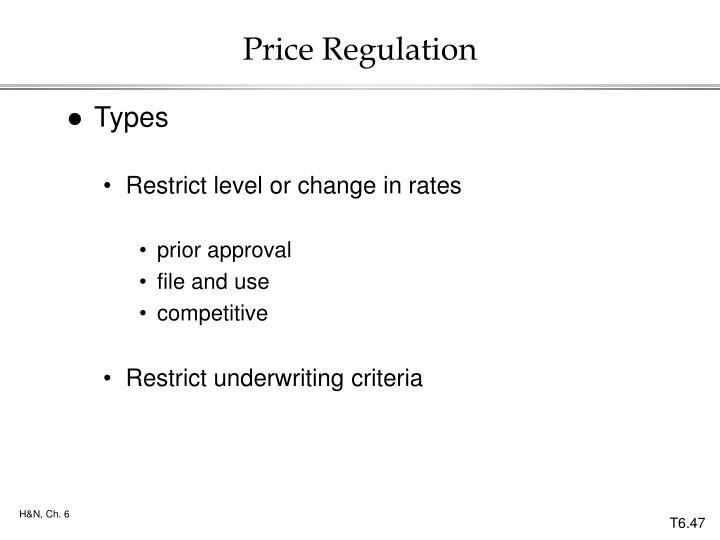 Price Regulation
