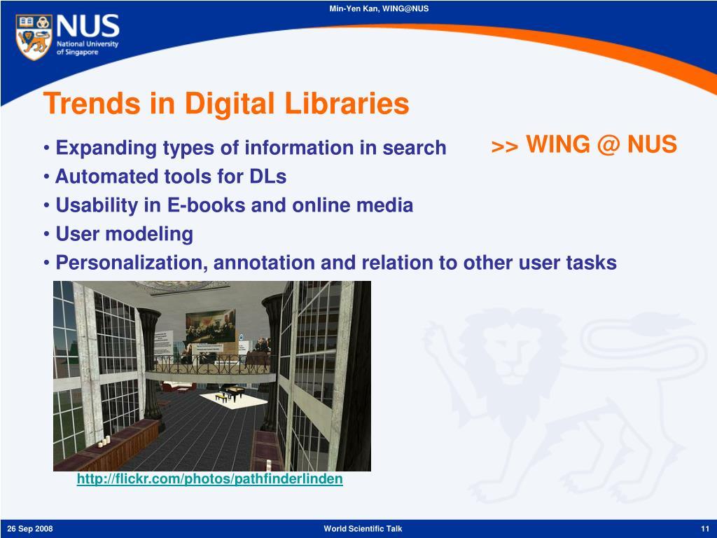 Trends in Digital Libraries