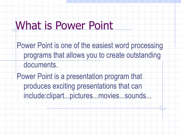 What is power point