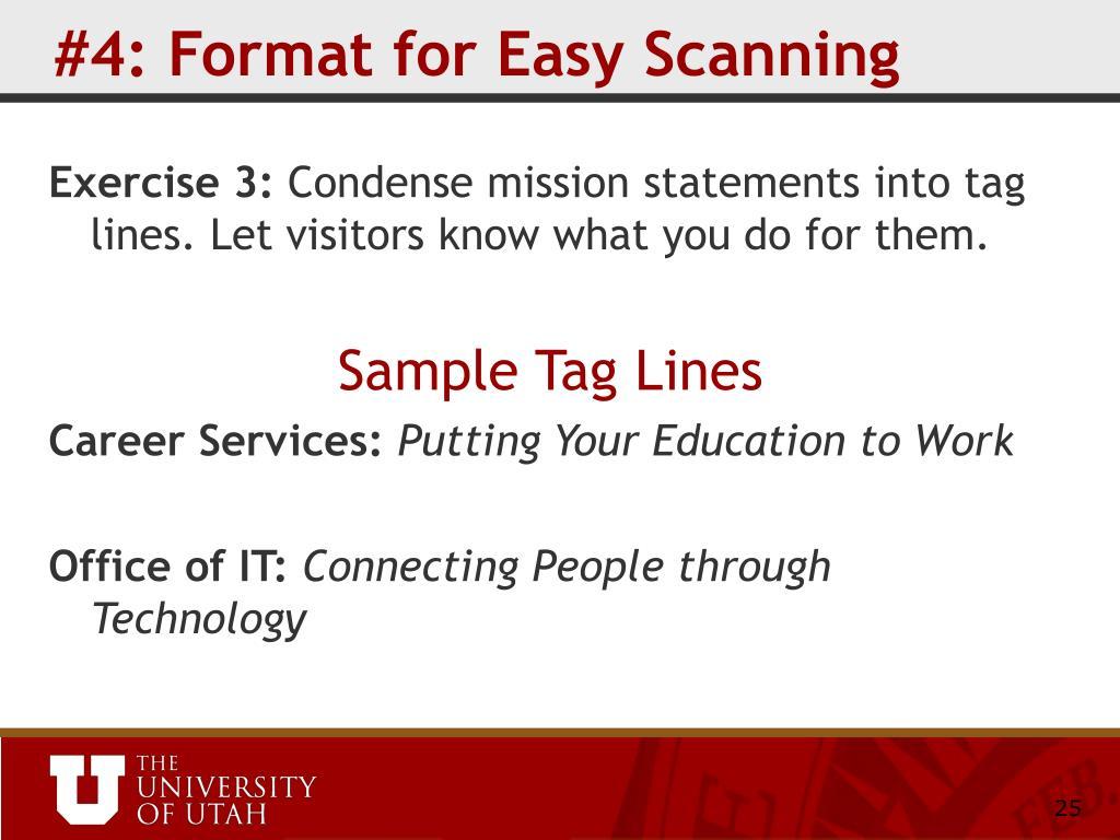#4: Format for Easy Scanning