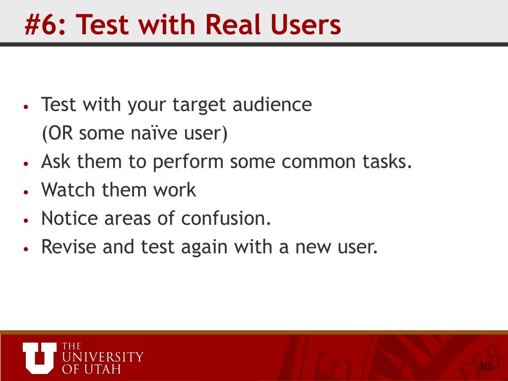 #6: Test with Real Users