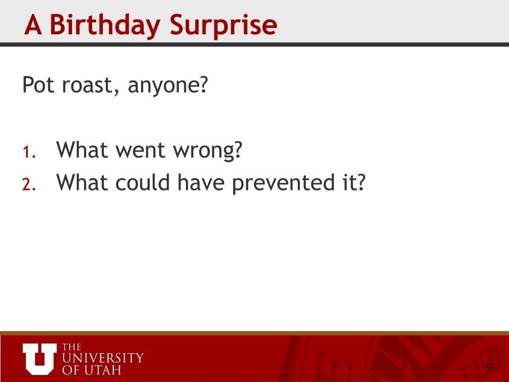 A Birthday Surprise